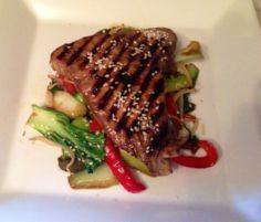 Soy Glazed Tuna Steaks with Asian  - 400 Tasty Tuna Recipes - RecipePin.com