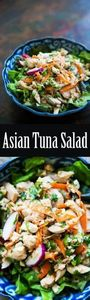 Asian inspired no-mayo tuna salad! - 400 Tasty Tuna Recipes - RecipePin.com