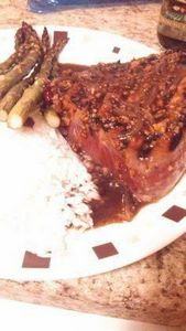Honey and ginger glazed tuna steak - 400 Tasty Tuna Recipes - RecipePin.com