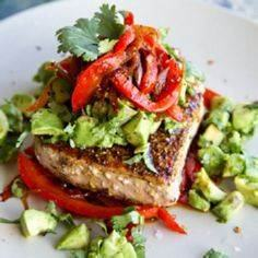 Mexican spiced tuna steak with roa - 400 Tasty Tuna Recipes - RecipePin.com