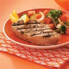 Garlic Herbed Grilled Tuna Steaks. - 400 Tasty Tuna Recipes - RecipePin.com