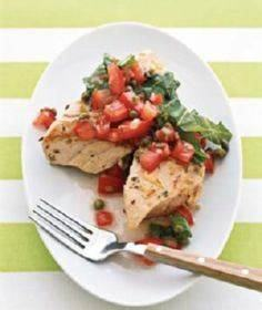 Grilled Tuna With Tomato Salsa - 400 Tasty Tuna Recipes - RecipePin.com