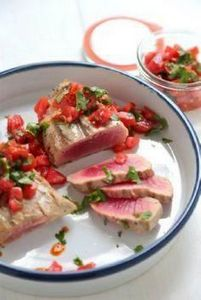 Grilled Tuna Steaks with Tabasco T - 400 Tasty Tuna Recipes - RecipePin.com