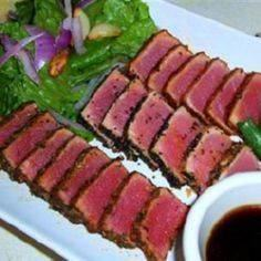 Seared Ahi Tuna Steaks @ Allrecipe - 400 Tasty Tuna Recipes - RecipePin.com