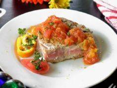 Grilled Tuna Steaks with Orange To - 400 Tasty Tuna Recipes - RecipePin.com