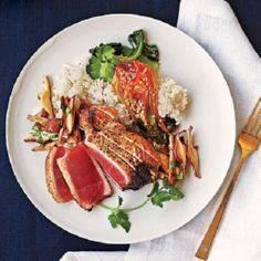 Sesame Albacore Tuna | CookingLigh - 400 Tasty Tuna Recipes - RecipePin.com
