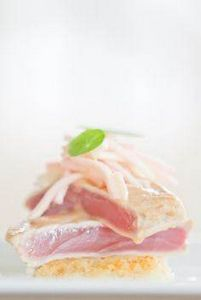 Seared Tuna Maguro. Pear ginger sa - 400 Tasty Tuna Recipes - RecipePin.com