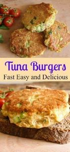 Tuna Burgers, who needs meat when  - 400 Tasty Tuna Recipes - RecipePin.com