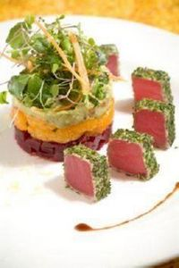 Chilled Herb Crusted Tuna over a r - 400 Tasty Tuna Recipes - RecipePin.com