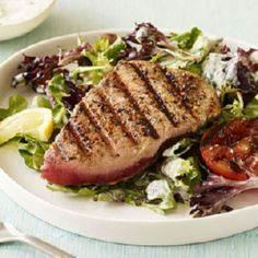 Grilled Tuna Salad with Garden Dre - 400 Tasty Tuna Recipes - RecipePin.com
