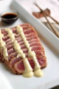 Seared Ahi Tuna with Wasabi Mayo - 400 Tasty Tuna Recipes - RecipePin.com