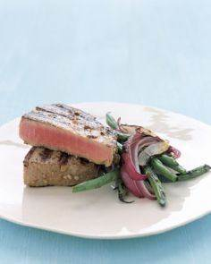 Grilled Tuna Steaks with Japanese  - 400 Tasty Tuna Recipes - RecipePin.com