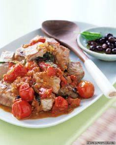 Seared Tuna with Tomatoes and Basi - 400 Tasty Tuna Recipes - RecipePin.com