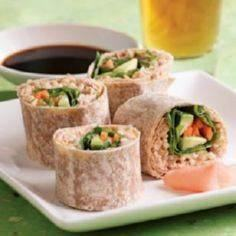 Eating Well's spicy tuna wraps.  H - 400 Tasty Tuna Recipes - RecipePin.com