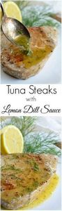 Pan Seared Tuna Steak with Lemon D - 400 Tasty Tuna Recipes - RecipePin.com