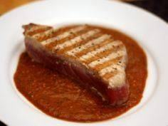 Grilled Tuna with Red Tomatillo Sa - 400 Tasty Tuna Recipes - RecipePin.com