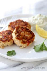 Tuna and Red Pepper Patties with H - 400 Tasty Tuna Recipes - RecipePin.com