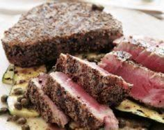 A simple salt and pepper grilled t - 400 Tasty Tuna Recipes - RecipePin.com