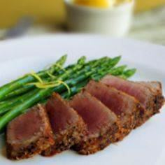 Spice-Rubbed Seared Tuna Steaks wi - 400 Tasty Tuna Recipes - RecipePin.com