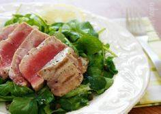 Grilled Tuna over Arugula with Lem - 400 Tasty Tuna Recipes - RecipePin.com