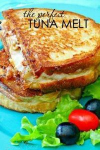 The perfect Tuna Melt is ooey-gooe - 400 Tasty Tuna Recipes - RecipePin.com