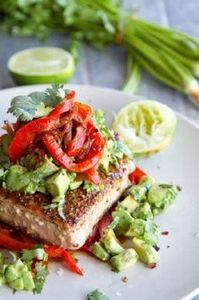 Mexican Tuna Steak, Sweet Red Pepp - 400 Tasty Tuna Recipes - RecipePin.com
