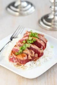 Grilled Soy-Ginger Ahi Tuna Recipe - 400 Tasty Tuna Recipes - RecipePin.com
