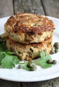 SPICY CILANTRO TUNA CAKE [tasteand - 400 Tasty Tuna Recipes - RecipePin.com