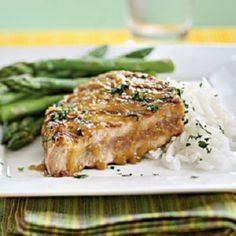 Tuna Steaks with Wasabi-Ginger Gla - 400 Tasty Tuna Recipes - RecipePin.com