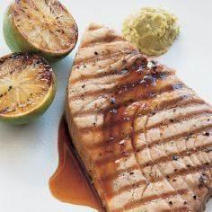 Grilled Tuna Steaks with Citrus-Gi - 400 Tasty Tuna Recipes - RecipePin.com