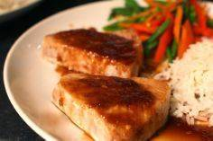 Spicy and sweet glazed tuna.  Deli - 400 Tasty Tuna Recipes - RecipePin.com