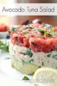 Avocado Tuna Salad - 400 Tasty Tuna Recipes - RecipePin.com