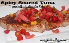 Reduced Calorie Recipe: Spicy Sear - 400 Tasty Tuna Recipes - RecipePin.com