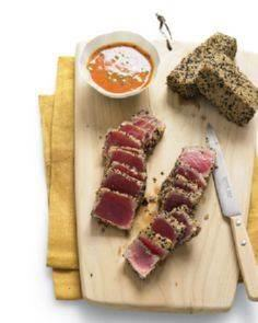 Sesame Seared Tuna with Ginger-Car - 400 Tasty Tuna Recipes - RecipePin.com
