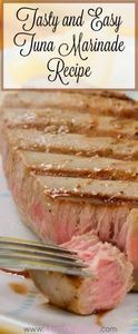 Here is a great tasting tuna steak - 400 Tasty Tuna Recipes - RecipePin.com