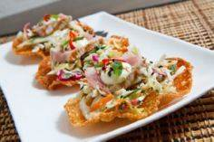 Ahi Tuna Tostadas with Wasabi Aiol - 400 Tasty Tuna Recipes - RecipePin.com