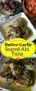 Delicious fried ahi tuna with garl - 400 Tasty Tuna Recipes - RecipePin.com