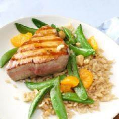 Grilled Sesame Orange Tuna Steaks  - 400 Tasty Tuna Recipes - RecipePin.com