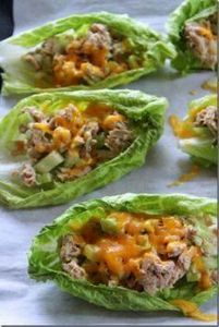 Tuna melt boats...no tuna, chicken - 400 Tasty Tuna Recipes - RecipePin.com