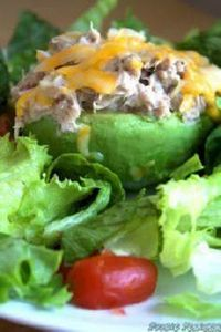 (Avocado Tuna Melt.) Next time I w - 400 Tasty Tuna Recipes - RecipePin.com