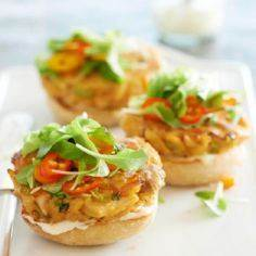 These tasty tuna burgers are flavo - 400 Tasty Tuna Recipes - RecipePin.com