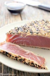 Sesame seared tuna steak is a tast - 400 Tasty Tuna Recipes - RecipePin.com