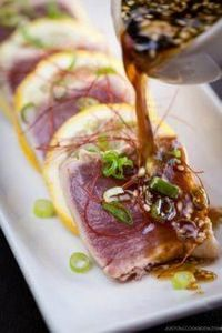 Tuna Tataki | Easy Japanese Recipe - 400 Tasty Tuna Recipes - RecipePin.com