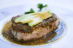 Sushi-grade tuna steaks, pan seare - 400 Tasty Tuna Recipes - RecipePin.com