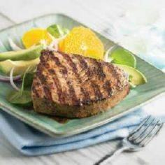 Caribbean Grilled Tuna Recipe - 400 Tasty Tuna Recipes - RecipePin.com