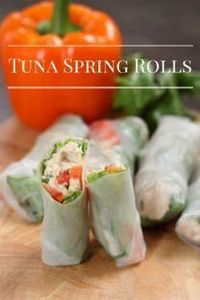 Tuna Spring Rolls - also going to  - 400 Tasty Tuna Recipes - RecipePin.com