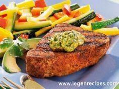 Grilled Tuna with Cilantro-Avocado - 400 Tasty Tuna Recipes - RecipePin.com