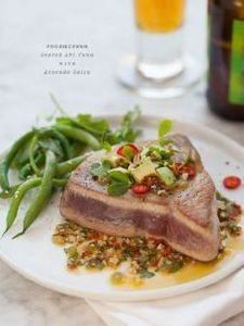 Seared ahi tuna with avocado salsa - 400 Tasty Tuna Recipes - RecipePin.com