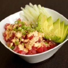 Homemade Spicy Tuna Rice Bowl. Per - 400 Tasty Tuna Recipes - RecipePin.com