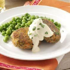 Tuna Cakes with Mustard Mayo Recip - 400 Tasty Tuna Recipes - RecipePin.com